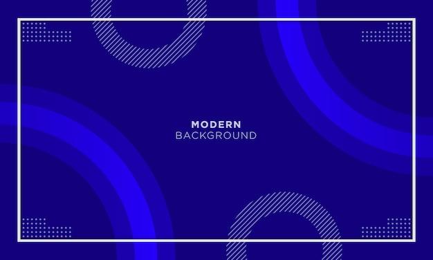 Minimalne niebieskie tło z minimalną geometryczną i okrąg