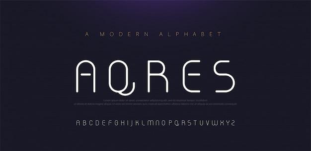 Minimalne nowoczesne czcionki alfabetu