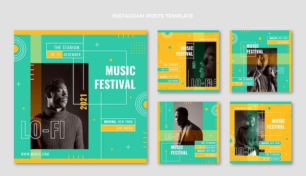 Minimalne posty z festiwalu muzycznego na instagramie