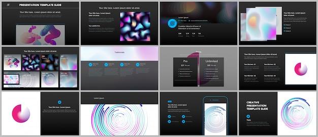 Minimalne prezentacje, szablony portfolio