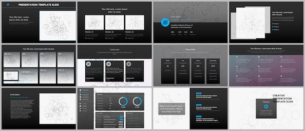 Minimalne prezentacje, szablony portfolio.