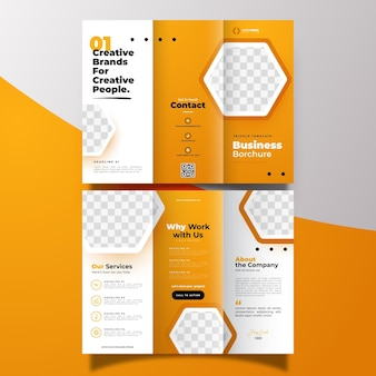 Minimalne rozdawanie broszura szablon koncepcji