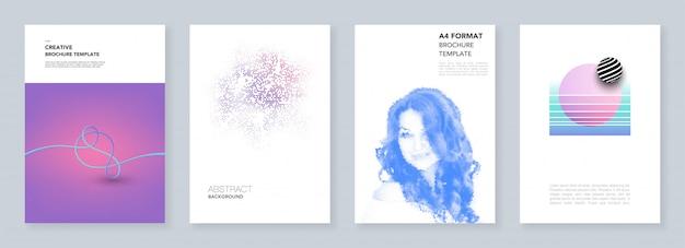 Minimalne szablony broszur z geometrycznymi