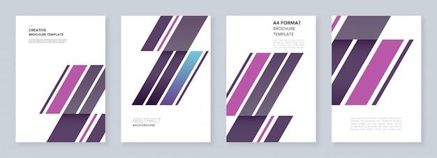 Minimalne szablony broszur