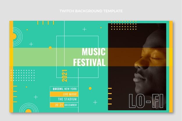 Minimalne tło festiwalu muzycznego