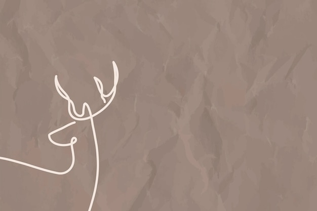 Minimalne tło jelenia, estetyczny wektor projektu