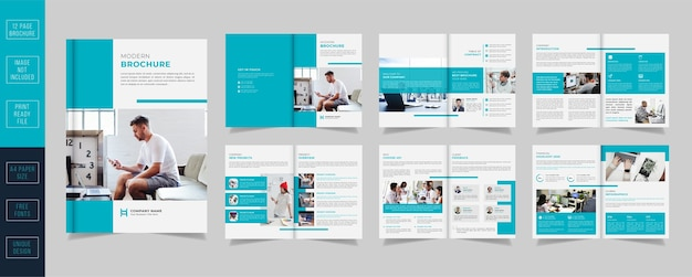 Minimalny biznes szablon broszury korporacyjnej
