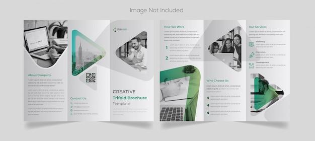 Minimalny biznesowy potrójny projekt broszury