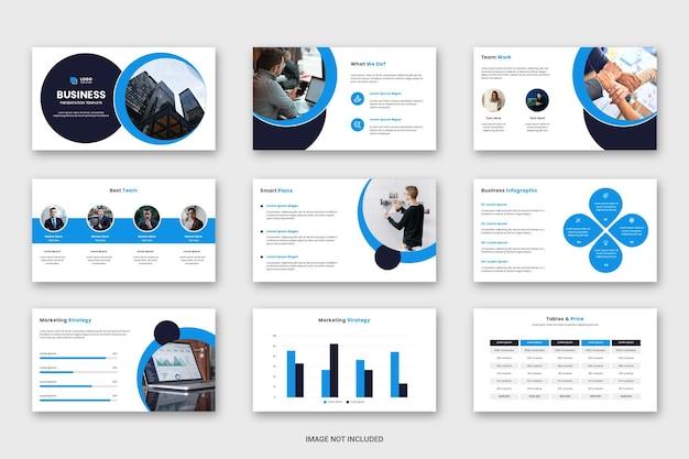Minimalny biznesowy szablon prezentacji slajdów powerpoint