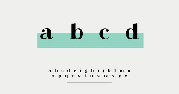Minimalny elegancki alfabet