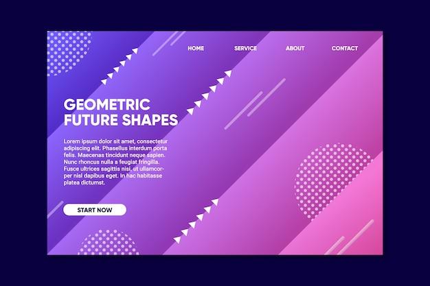 Minimalny geometryczny szablon strony docelowej