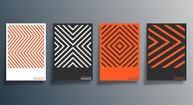 Minimalny geometryczny wzór ulotki, plakatu, okładki broszury, tła, tapety, typografii lub innych produktów poligraficznych. ilustracja wektorowa.