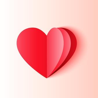 Minimalny kształt serca w stylu origami