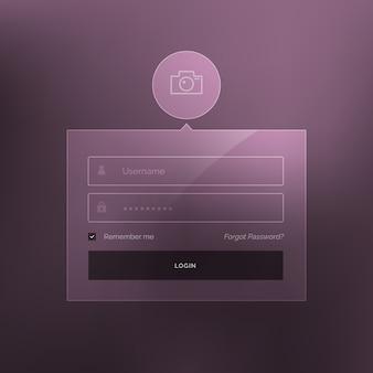 Minimalny login szablon wektora projektowania