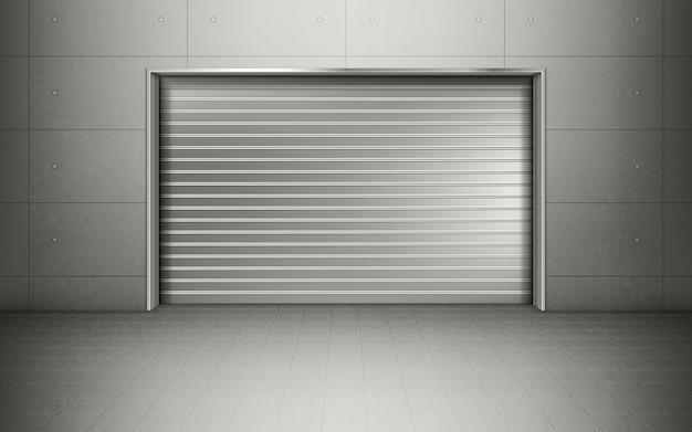 Minimalny metalowy garaż na samochody
