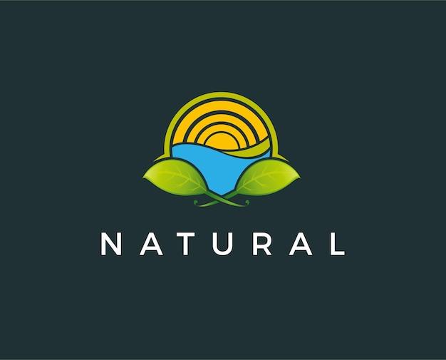 Minimalny naturalny szablon logo