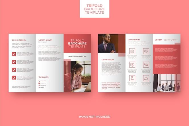 minimalny potrójny szablon broszury ze zdjęciem