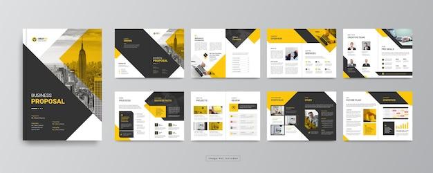 Minimalny profil firmy lub szablon projektu broszury biznesowej korporacyjnej
