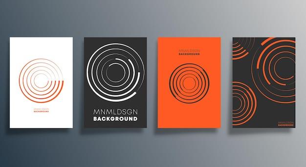 Minimalny projekt geometryczny ulotki, plakatu, okładki broszury, tła, tapety, typografii lub innych produktów drukarskich. ilustracji wektorowych.