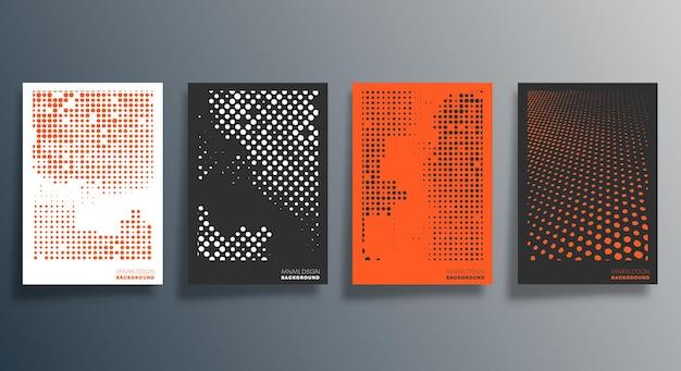Minimalny projekt geometryczny ulotki, plakatu, okładki broszury