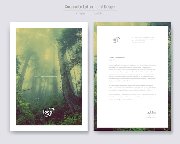 Minimalny projekt na papierze firmowym