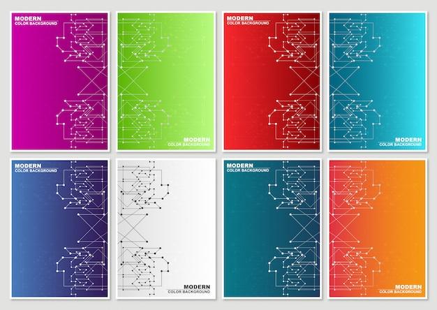 Minimalny projekt okładek. abstrakcyjny styl geometryczny
