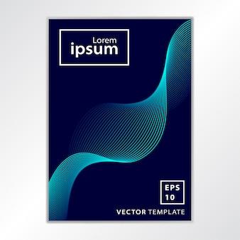 Minimalny projekt okładki broszury biznesowej