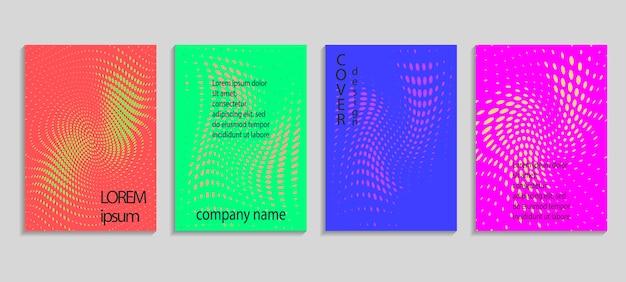 Minimalny streszczenie wektor półtonów szablon projektu okładki. przyszłe geometryczne tło gradientowe. szablony wektorowe do plakatów, banerów, ulotek, prezentacji i raportów