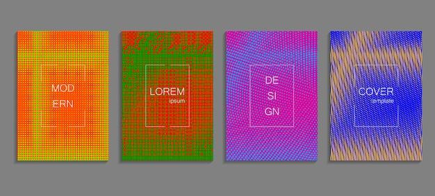 Minimalny streszczenie wektor szablon projektu okładki półtonów. przyszłe geometryczne tło gradientowe. szablony wektorowe do plakatów, banerów, ulotek, prezentacji i raportów