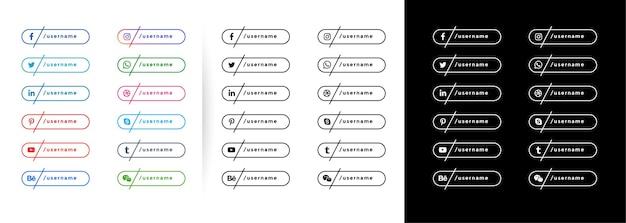 Minimalny szablon banerów społecznościowych w stylu linii