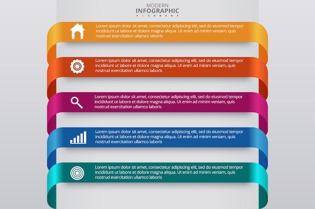 Minimalny szablon biznes infografiki. ilustracji wektorowych