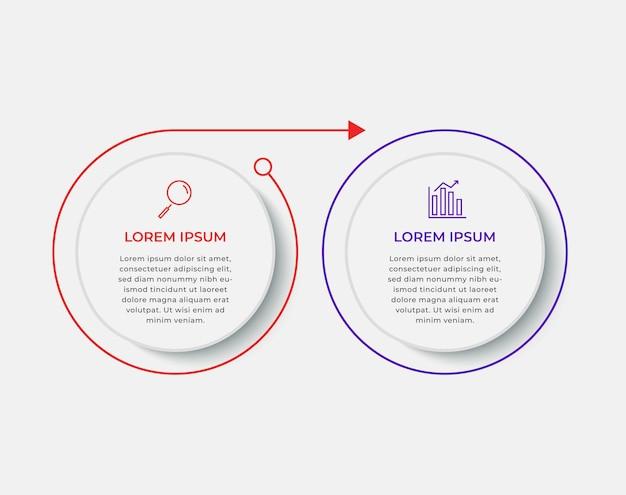 Minimalny szablon biznes infografiki