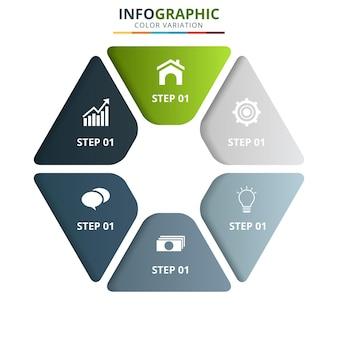 Minimalny szablon biznes infografiki.