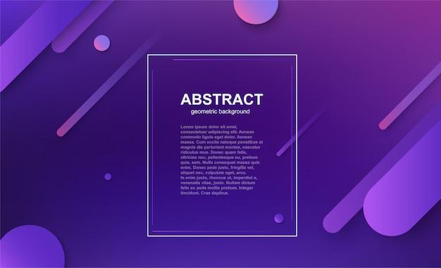 Minimalny szablon biznesowy geometryczny z kompozycją kształtów