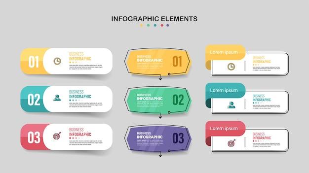Minimalny szablon biznesowy infografiki