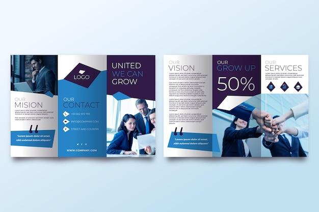 Minimalny szablon broszury potrójnej