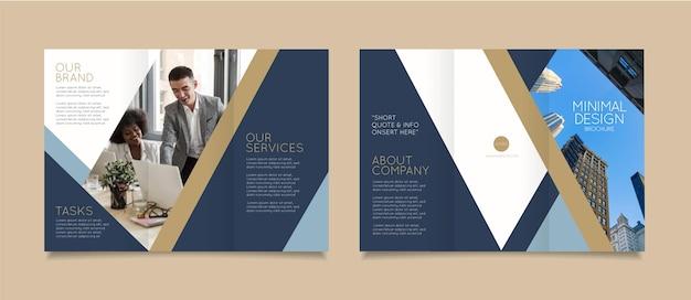 Minimalny szablon broszury ze zdjęciem