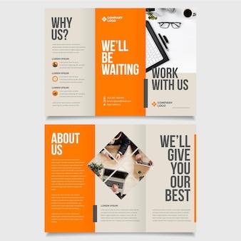 Minimalny szablon broszury