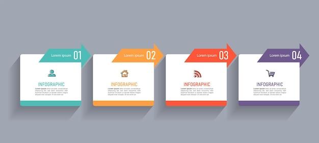 Minimalny szablon infografiki biznesowych