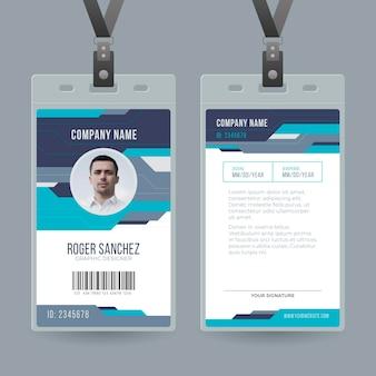 Minimalny szablon kart identyfikacyjnych ze zdjęciem