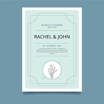 Minimalny szablon karty ślubu
