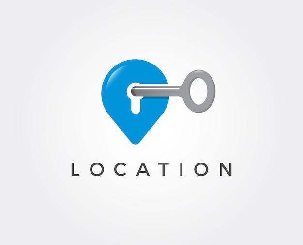 Minimalny szablon logo klucza lokalizacji