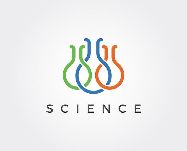 Minimalny szablon logo laboratorium