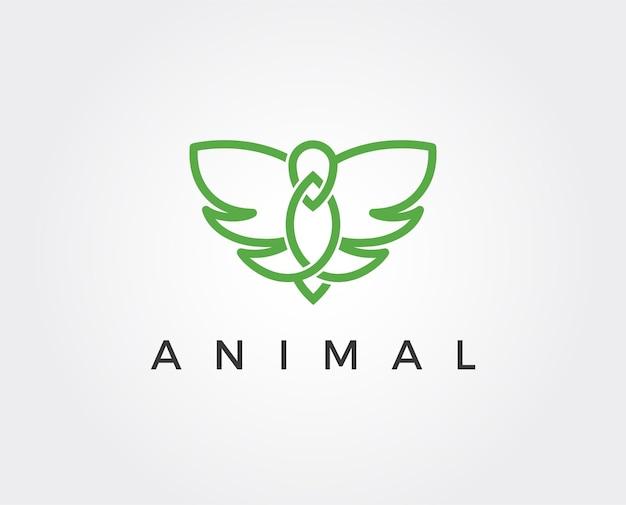 Minimalny szablon logo latającego ptaka