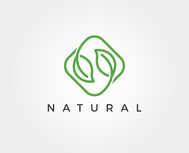 Minimalny szablon logo liści