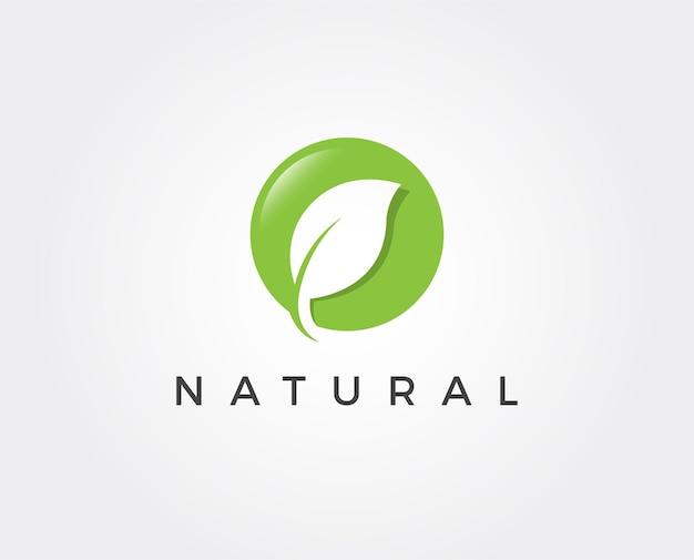 Minimalny szablon logo liścia