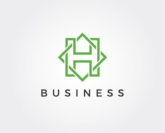 Minimalny szablon logo litery h