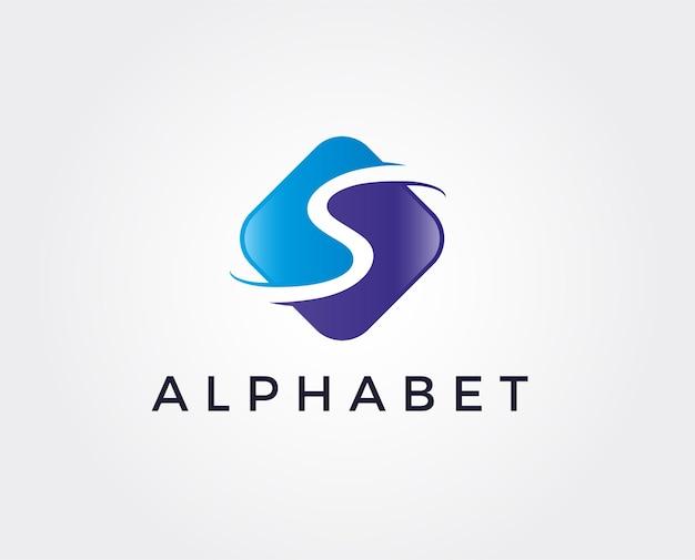 Minimalny szablon logo litery s