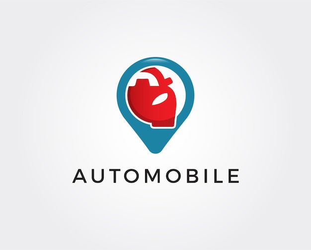 Minimalny szablon logo lokalizacji samochodu