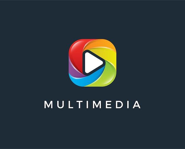 Minimalny szablon logo multimedialnego